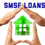 SMSF loans with hands forming house frame around green house