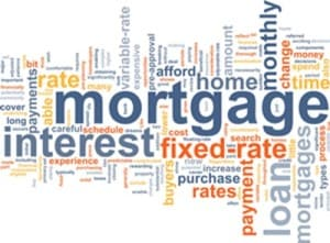 Montage of mortgage terms