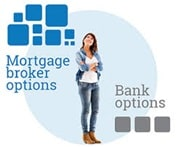 Young woman considering mortgage brokers or banks as her lending options