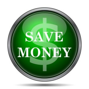 Save money icon. Internet button on white background