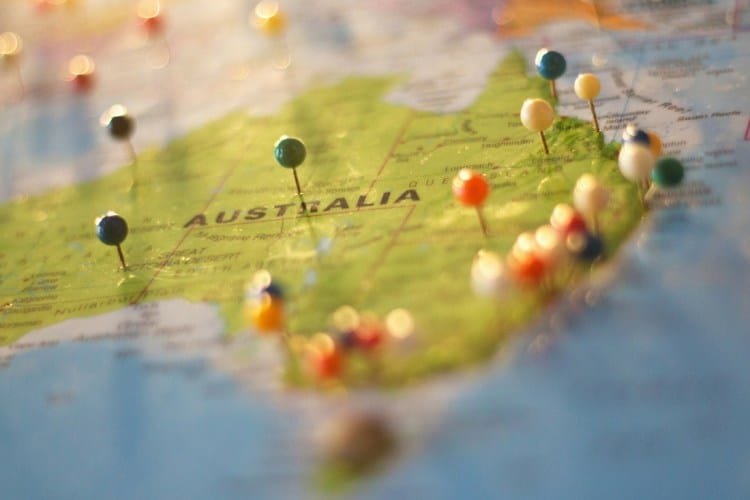 http://mastermortgagebrokersydney.com.au - map of australia with coloured pins stuck into numerous locations on it